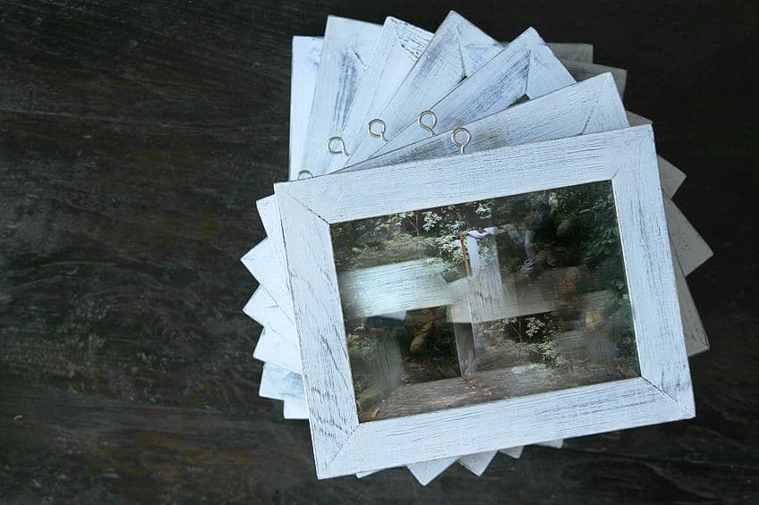 White-Washed Wood Frame