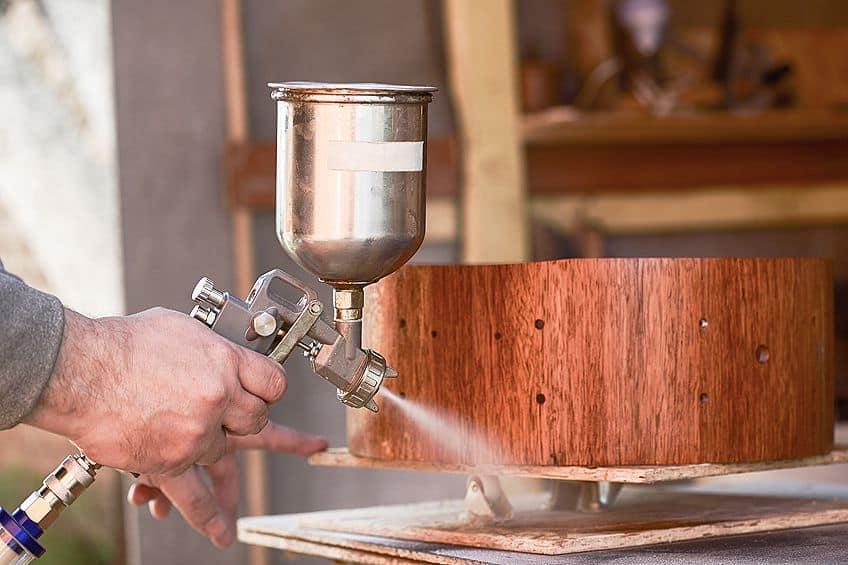 Spraying Polyurethane Varnish