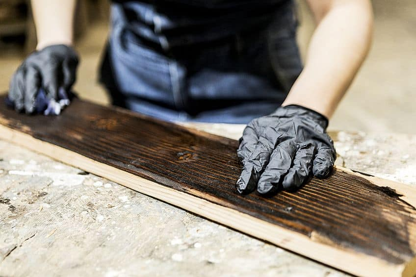 Staining Distressed Wood
