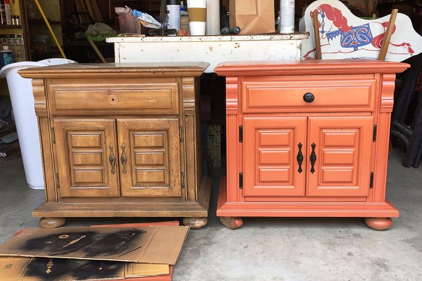 Painting Over Polyurethane Before and After