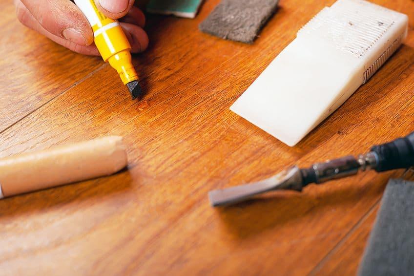 Repairing Scratched Hardwood Floor