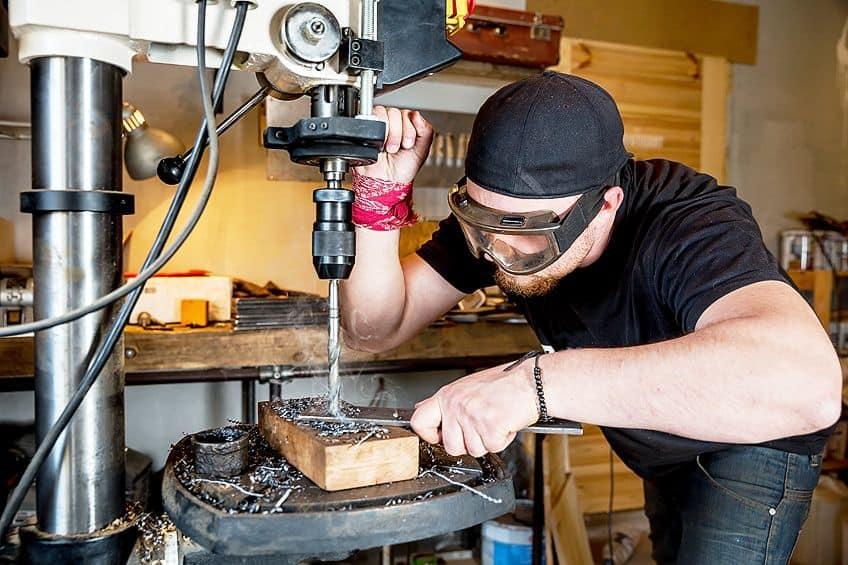 Using a Floor Model Drill Press