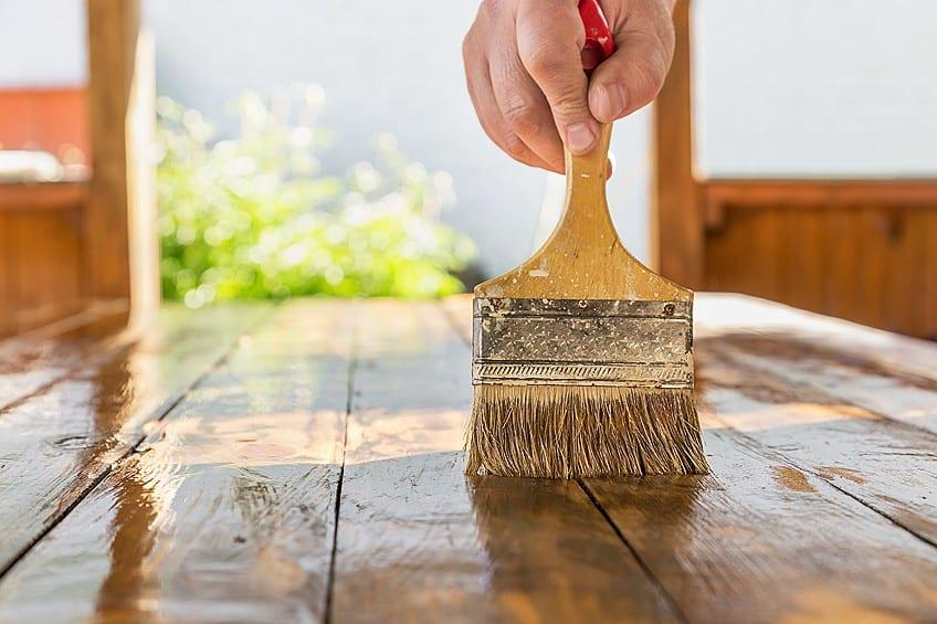 Paint Treated Wood Sealed