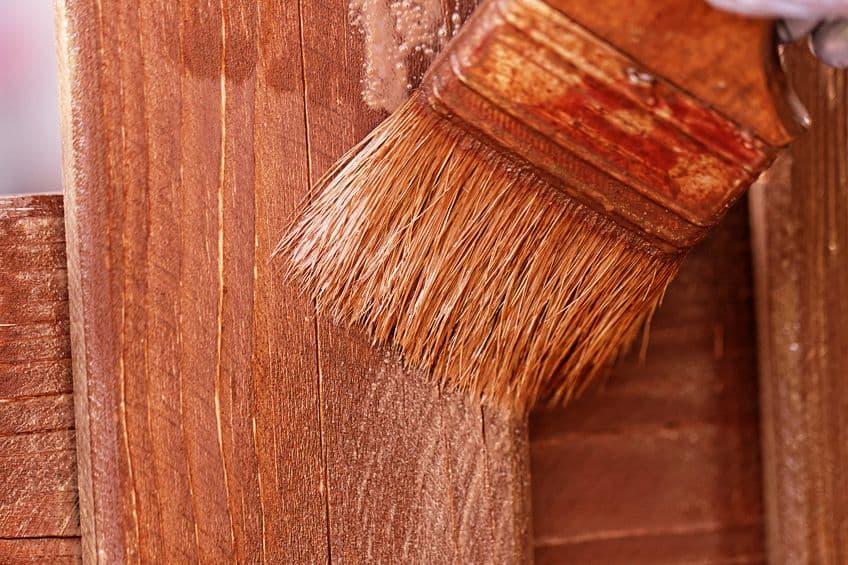Staining Redwood