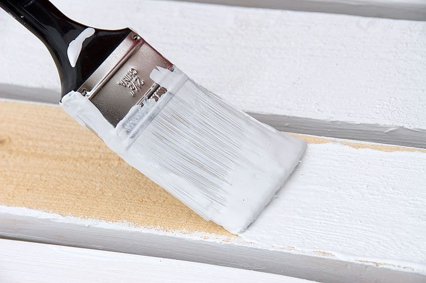 White Paint Treated Wood